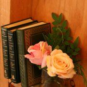 books in green